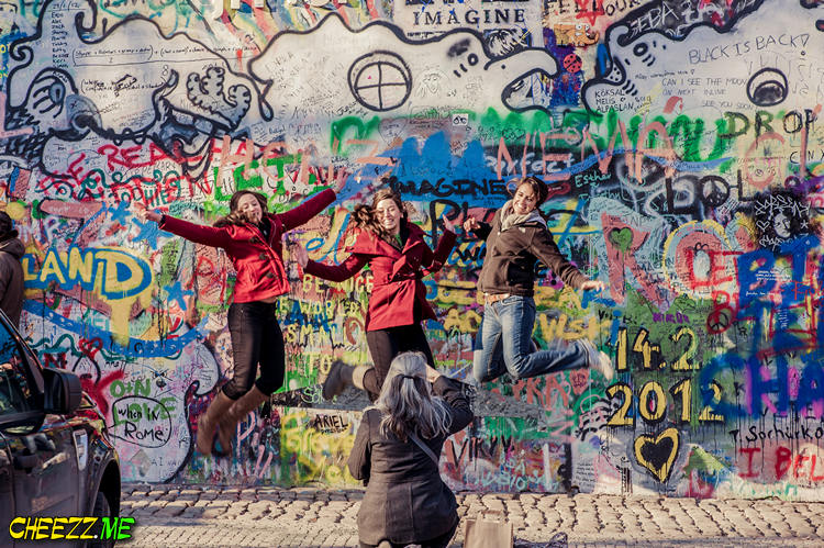 John Lennon wall in Prague Czech Republic