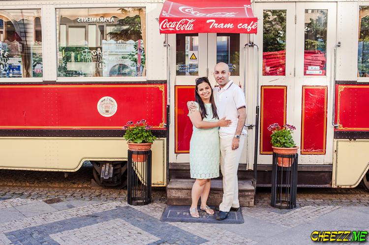 Cafe Tramvaj in Prague Venceslas Square