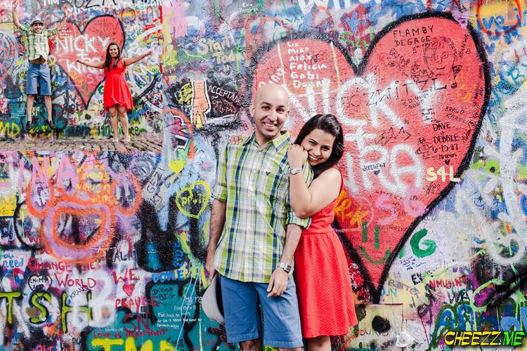 Lennon wall in Prague photos