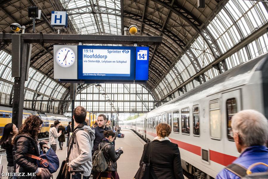 Platform 14a Amsterdam centraal