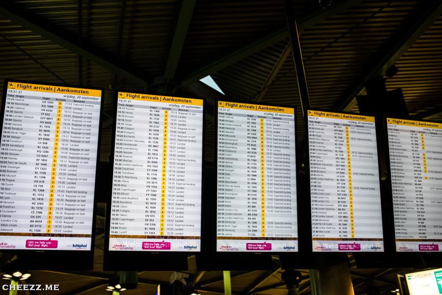 Schiphol arrivals