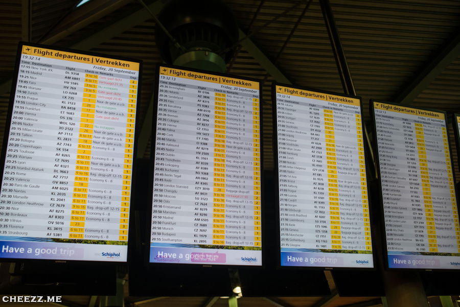 Schiphol departures