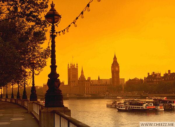 Вид на Темзу фото Лондона