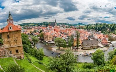 Крумлов панорама города - экскурсия из Праги