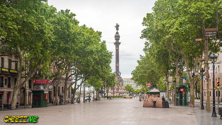 Бульвар Рамблас в Барселоне