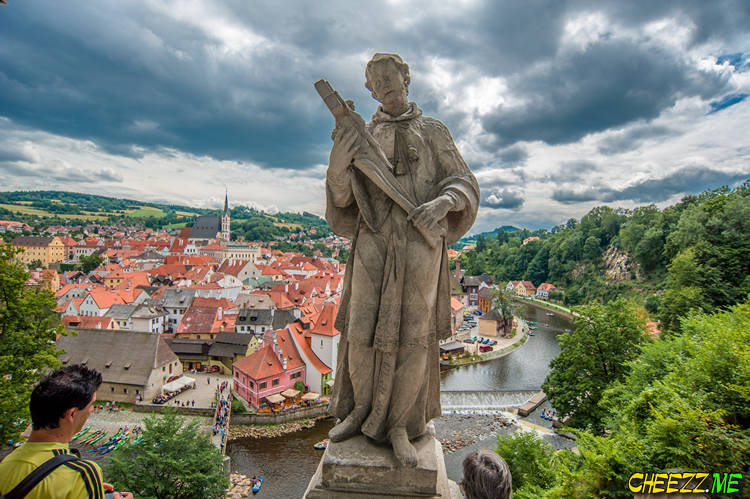 Чешский Крумлов фото- панорама города