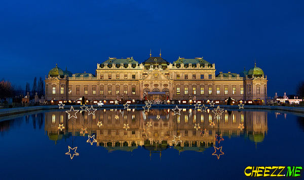 Столица Австрии Вена ночью