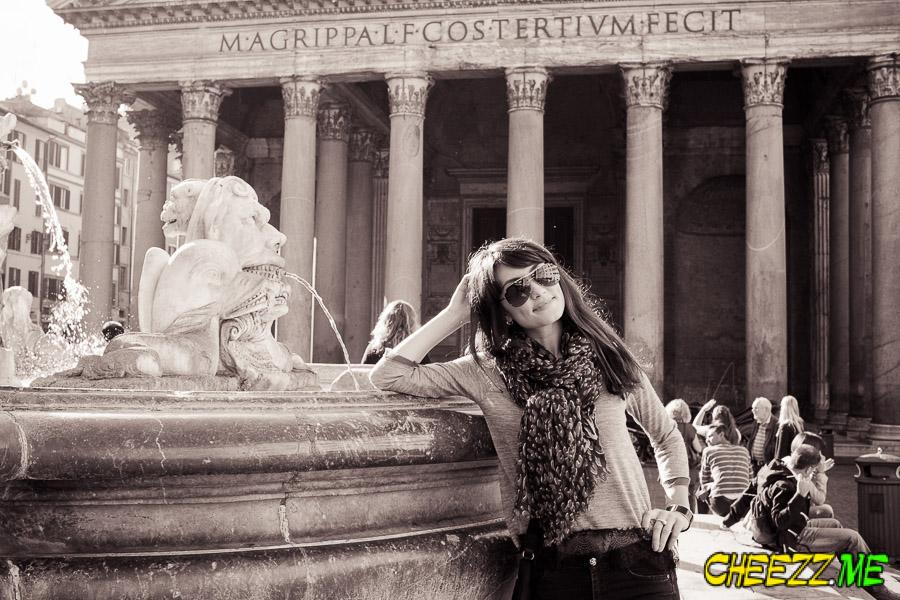 фотосессия в Вечном Риме у Пантеона