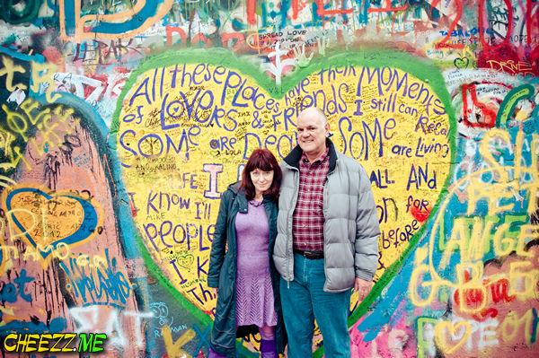 Фотограф в Праге - Стена Джона Деннона