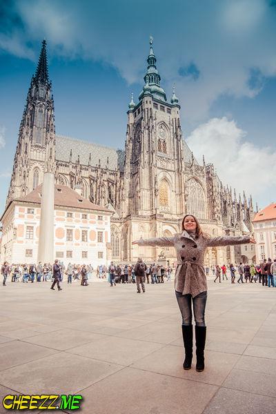 фотосессия у собора святого Вита в Праге