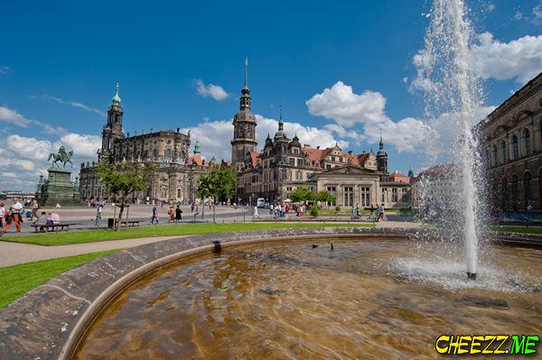 города в Германии - немецкий Дрезден летом