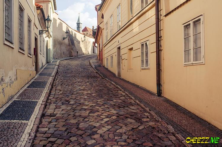 Район Градчаны - Прага весной