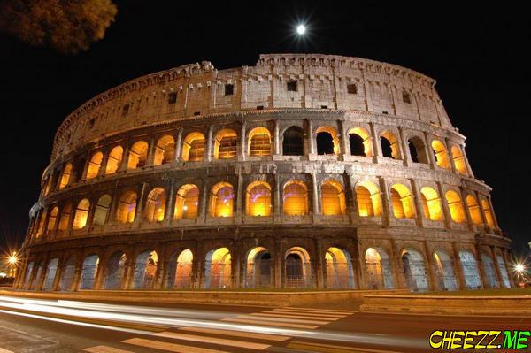 Ночной Рим - вид на Колизей