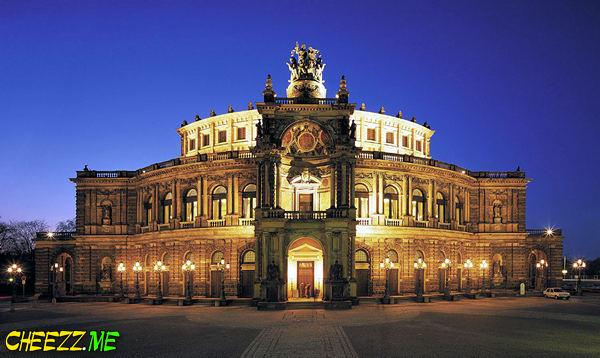 Ночной город - немецкий Дрезден