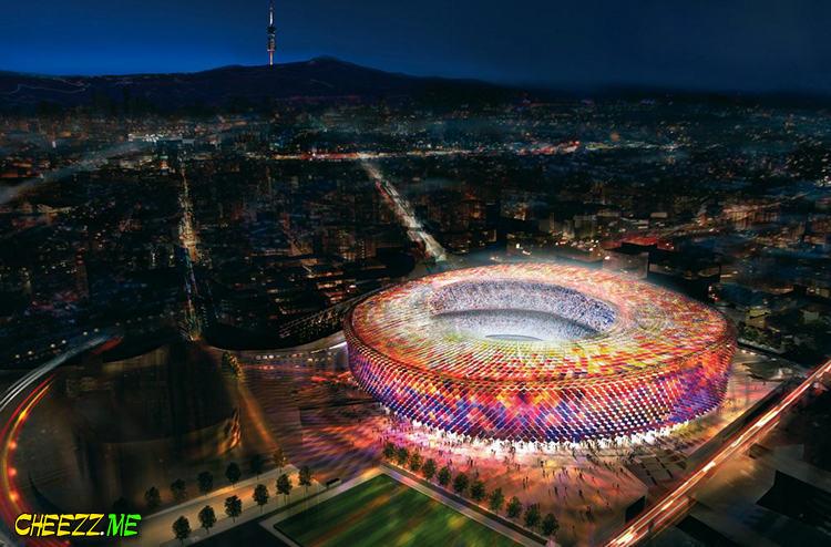 Футбольный Стадион Камп Ноу в Барселоне