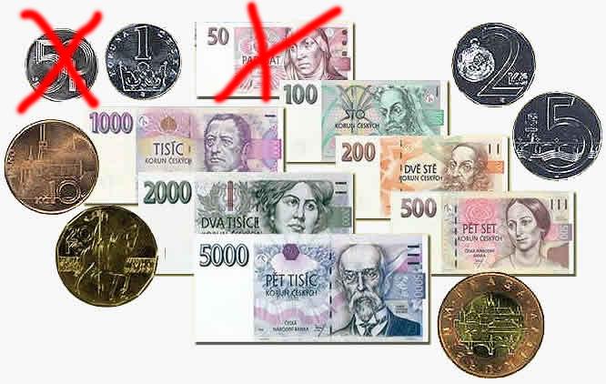 Чешская крона валюта в Чехии