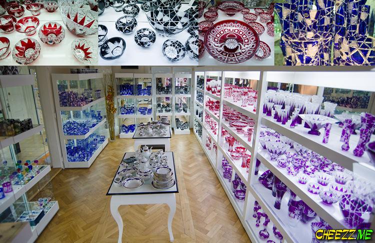 Чешское стекло купить в Праге