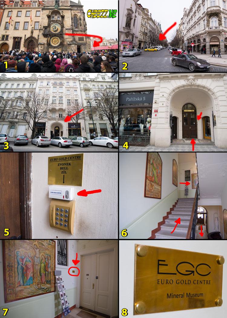 Где купить чешский гранат в Праге