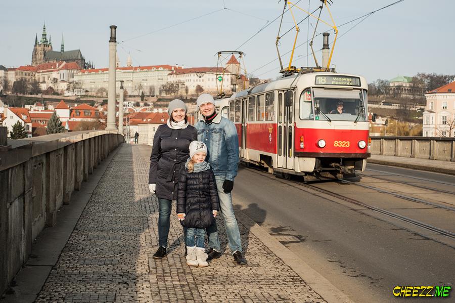 Пешая прогулка по Праге весной с фотографом