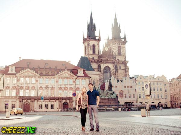 Староместкая площадь в Праге утром
