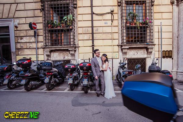 Фотосессия улицы Рима, свадьба фотограф в Италии