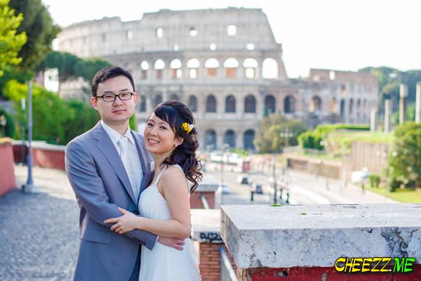 Колизей - свадебная фотосессия в Риме - фотограф в Италии