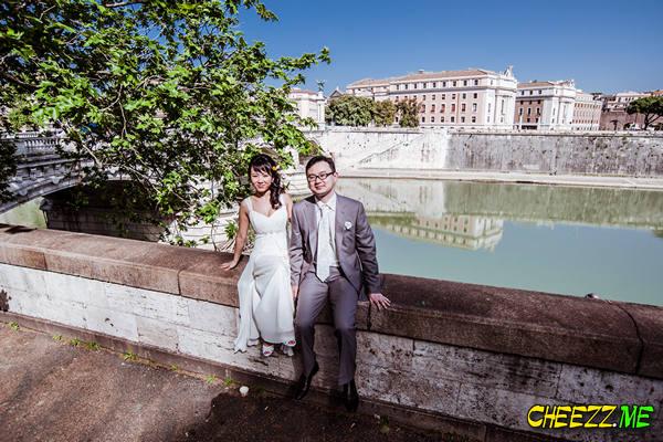 Набережная - фотосессия в Риме, фотограф в Италии