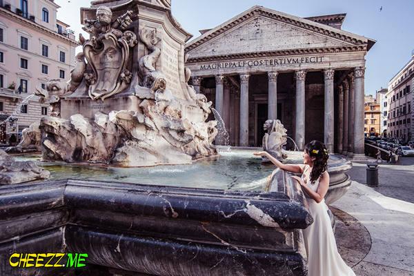 Пантеон - свадебная фотосессия в Риме