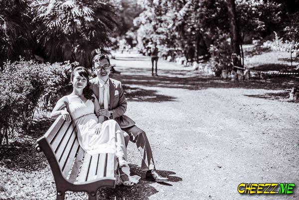 Парк - свадебная фотосессия в Риме, фотограф в Италии
