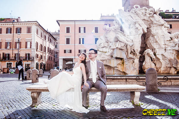 Площадь Навона - фотосессия в Риме - свадебный фотограф в Италии