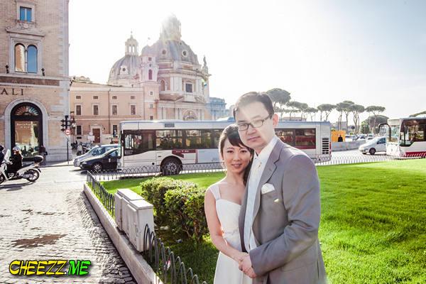 Свадебный фотограф в Италии- фотосессия прогулка в Риме