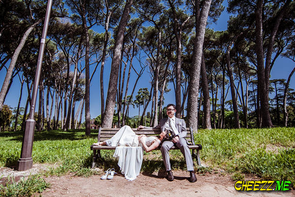 Свадебная фотосессия в Риме на вилле