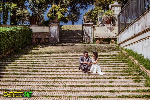 Влюбленные в Риме - фотосессия в Италии