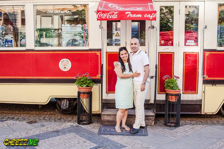 Индивидуальная экскурсия в Праге - кафе трамвайчик на Вацлаваке