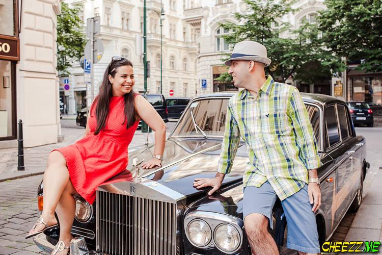 Фотосессия в Праге на улице Парижской