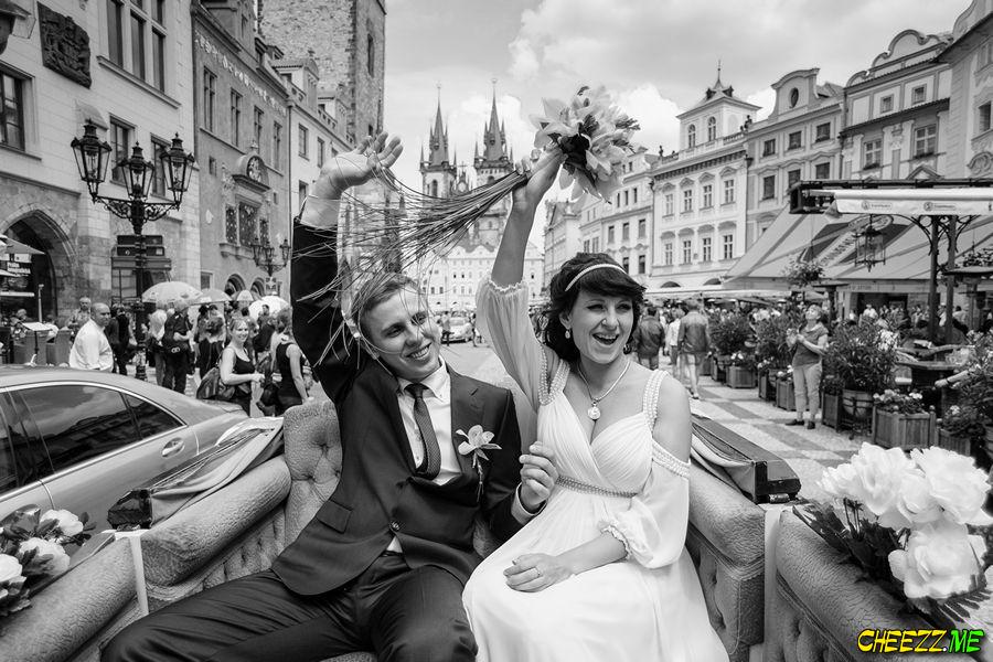 Свадебная фотосессия в Праге летом
