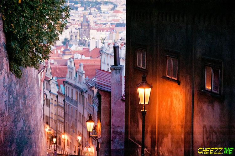 Prague Hrad in night photo