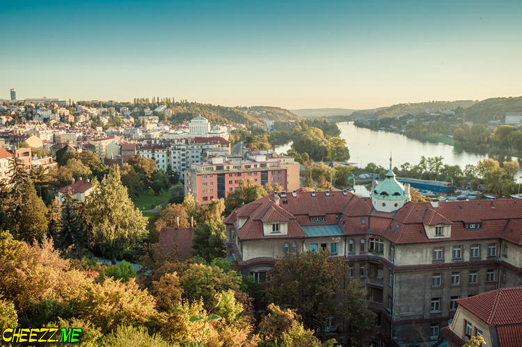 Prague Vysehrad castle in summer