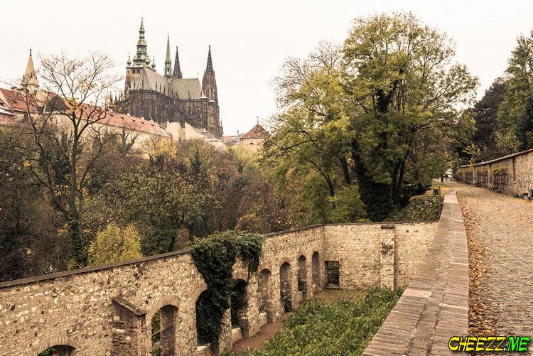 St Vitus Cathedral in Prague views