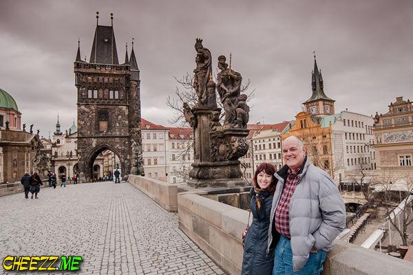 Tour in Prague with photographer photo on Charles Bridge