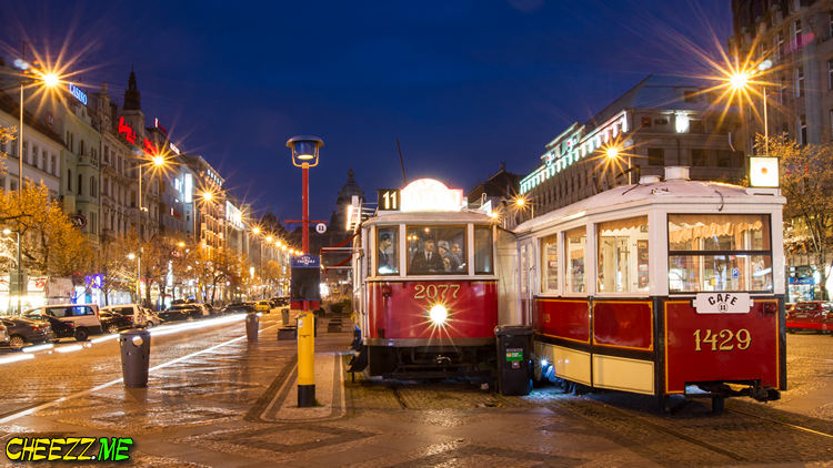 Wenceslas Square in Prague tour with photographer