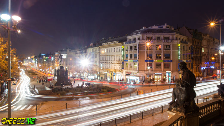 Wenceslas-Square-in-night-Prague