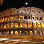 Colloseo in night Rome Italy