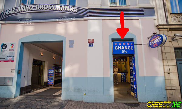 Best exchange office without commision in Prague