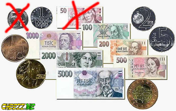 Czech Koruna how the banknotes look like