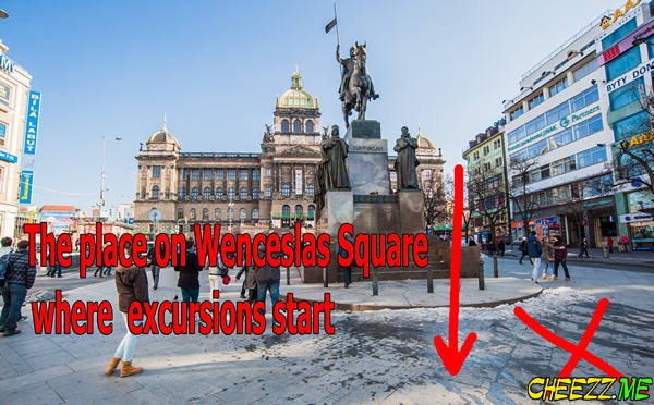 Wenceslas Square in Prague the place where excursions start