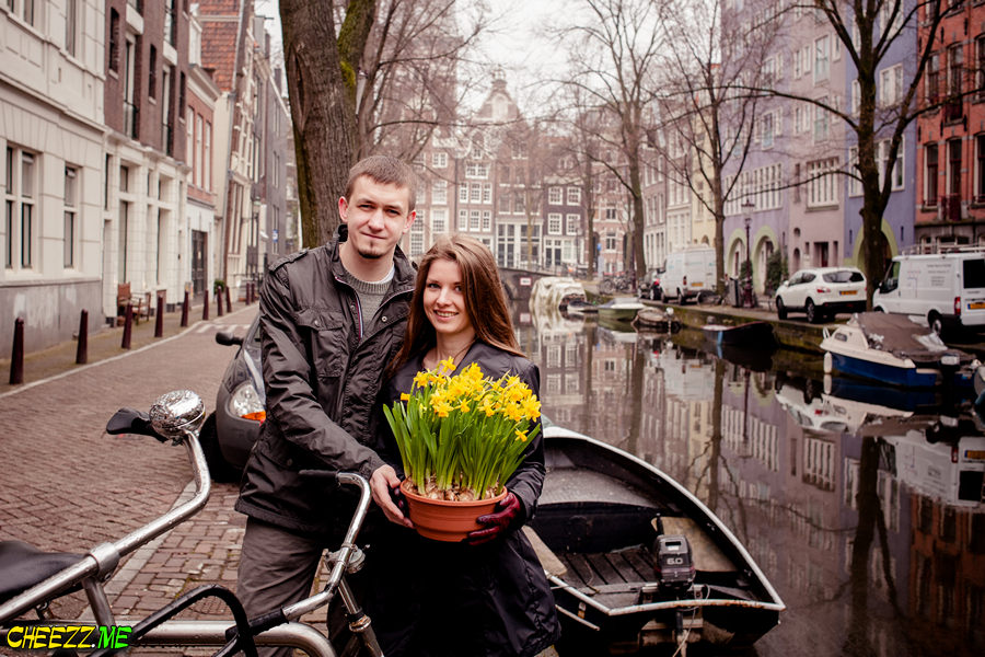 Sightseeing tour in Amsterdam with a photographer