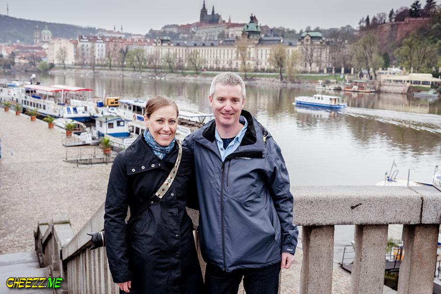 Prague views over Vltava river