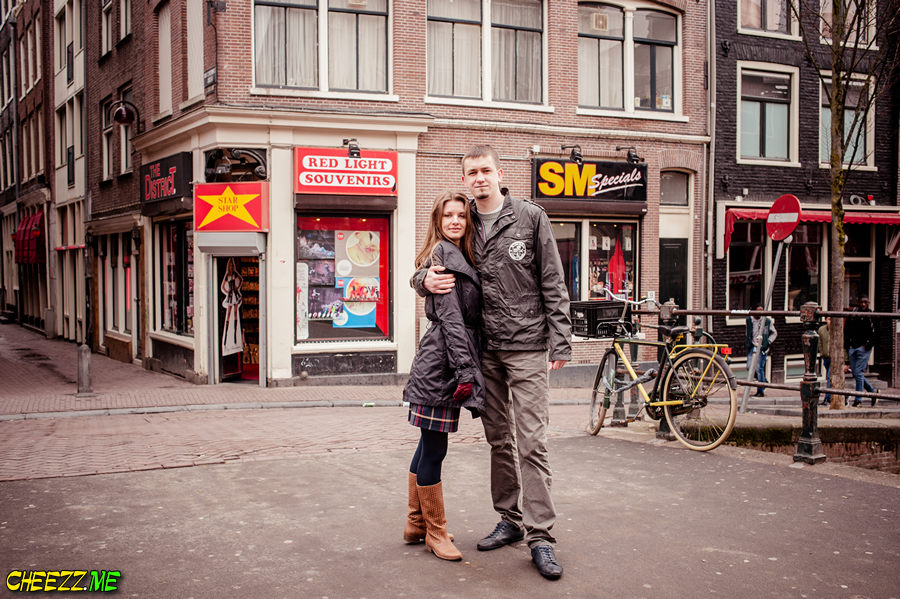 red light streets in Amsterdam photo
