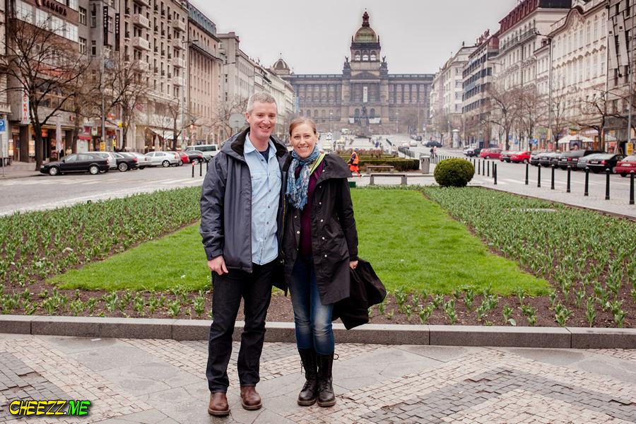 Wenceslas Square in Prague photo